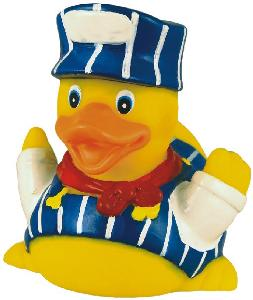 Rubber Engineer Duck Toy - All of our rubber toys are phthalate free and balanced for floating.
