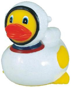 Rubber Astronaut Duck Toy - All of our rubber toys are phthalate free and balanced for floating.