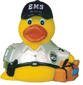 Rubber EMS Duck Toy - Rubber Toy Phthalate free and balanced and weighted for floating.