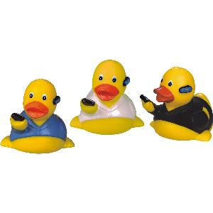 Rubber On The Phone Duck Toy - Rubber Toy Phthalate free and balanced and weighted for floating.