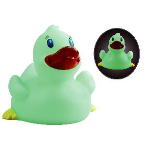 Classic Rubber Glow In the Dark Duck Toy - All of our rubber toys are phthalate free and balanced for floating.