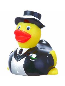 Rubber Lover Groom Duck Toy - Rubber Lover Groom Ducks are phthalate free and balanced and weighted for floating.