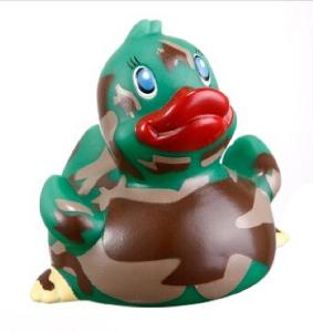 Rubber Camo Classic Duck Toy - Rubber Camo Classic Duck toys are phthalate free and balanced and weighted for floating.
