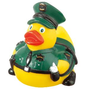 Rubber Prison Guard Duck Toy - Rubber Prison Guard Duck toys are phthalate free and balanced and weighted for floating.