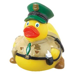 Rubber Park Ranger Duck Toy - Rubber Park Ranger Duck toys are phthalate free and balanced and weighted for floating.