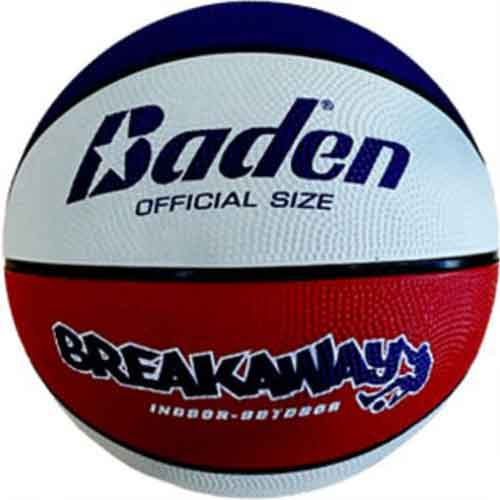 Official Size Rubber Basketball - Red, White and Blue