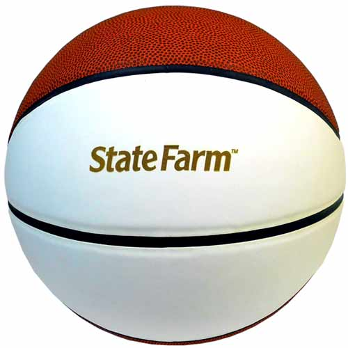 Composite Autograph Basketball with 2 Signature Panels
