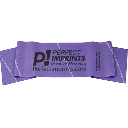 "Dynaband Exercise Bands 5 Ft x 6"" Wide, Purple, Heavy Resistance"
