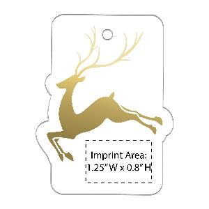Acrylic Reindeer Full-Color Ornaments - 50 Minimum - Acrylic Reindeer ornaments with your full-color printed logo.