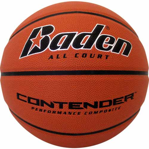 Laser Engraved Men's Official Size Contender Performance Composite Basketball - This Orange Contender men's basketball is the official size and weight for the NBA. These are laser engraved with your logo for a permanent decoration (won't rub off like pad printing).