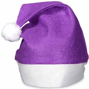 Blank Purple Felt Santa Hats - Spruce up your Christmas events with these blank purple felt Santa hats. They ship within 24-48 hours of ordering and are great to add a little fun to your holiday parties.