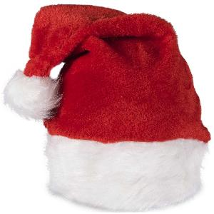 Blank Red Deluxe Plush Santa Hats