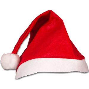 Blank Red Felt Santa Hats - These blank red felt Santa hats are the most popular sellers each season. The low price of these holiday hats makes them friendly on any budget. Expect your order to ship within 24-48 hours after ordering.