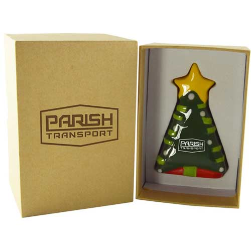 "A Christmas To Remember Ceramic 3d Tree Ornament - With the ""Christmas to Remember"" Ceramic 3D Tree Ornament, we have created the perfect balance of branding and festivity. Sure to impress anyone it is gifted to, and guaranteed to shine on their Christmas tree for seasons to come. The deep etch laser engraving process will not only make the logo stand out, it also ensures the longevity of the ornament as it will never fade or rub off. Give your clients, employees, and students something they deserve this year, the ""Christmas to Remember""."