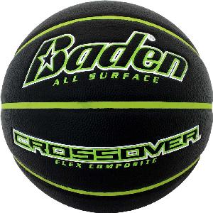 "Black/Green Junior Size Crossover Composite Basketball - The Black/Green Crossover junior size basketball is the official size 5 - (27.5"" circumference) for most boys and girls leagues - ages 9-11 years old and is pad printed with your custom logo."