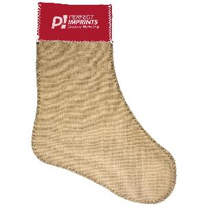 Custom Burlap Christmas Stockings with Neoprene Top