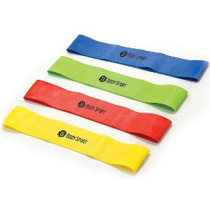 Custom Resistance Loop Bands - Buy custom printed resistance loop bands (also known as booty bands) in bulk. Your logo is printed on these resistance exercise bands with a minimum order of 1000 pieces. Each color/resistance level must be ordered with a minimum of 1000 pieces with the same logo.