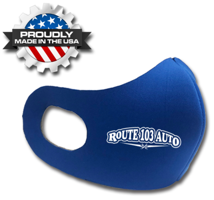 Medium Multi-Ply Face Mask with Elastic Loops - These medium-sized custom printed face masks are printed in 1-color with your customized logo. Washable and reusable!
