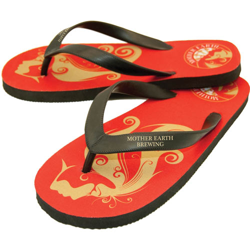 4be286c2e The Riveria - Rubber Flip Flops with Natural Rubber Straps
