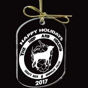 Custom Shape Laser Etched 1/4 Inch Acrylic Ornaments - Up to 9 Sq Inches - Made in the USA! Acrylic Christmas ornaments cut into the custom shape of your choice (up to 9 sq. in.) and laser etched with your customized design.