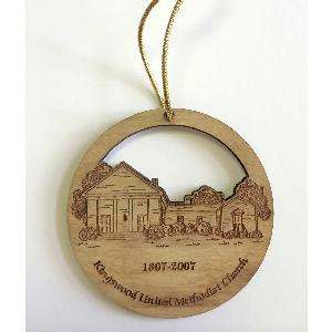 Custom Laser-Cut Wood Ornaments