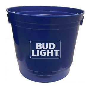 2.5 Gallon Party Bucket - This two and a half gallon party bucket is great for beer, wine, soda, popcorn, gift baskets, shower caddies, dorm waste baskets, countertop tubs. Custom bucket colors available on quantities over 2000. This item is also available with an optional attached bottle opener - Call for more information.