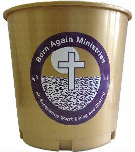 Plastic Offering Buckets - Custom offering buckets are great for churches.  You can buy your next church offering buckets order online with your custom logo printed on each offering bucket.  These plastic buckets will last for years to come and are great for contemporary worship.