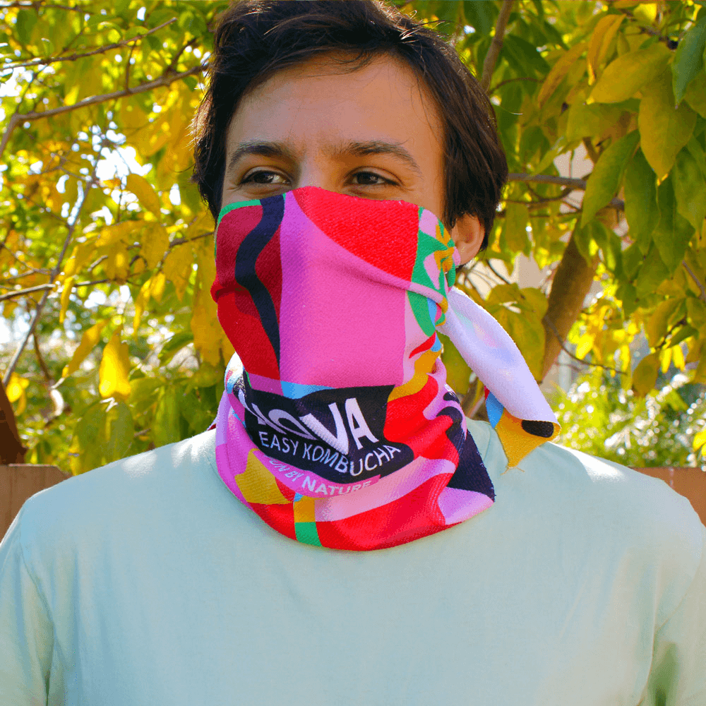 Full-Color Triangular Face Bandana - These triangular bandanas cover your face from below your eyes to the neck and are printed in full-color all over the bandanas. Optional individual personalization is available.