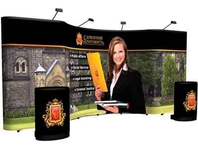 Custom trade show floor displays