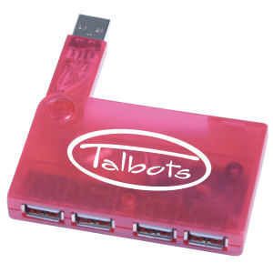 4 Port Promotional USB Hub