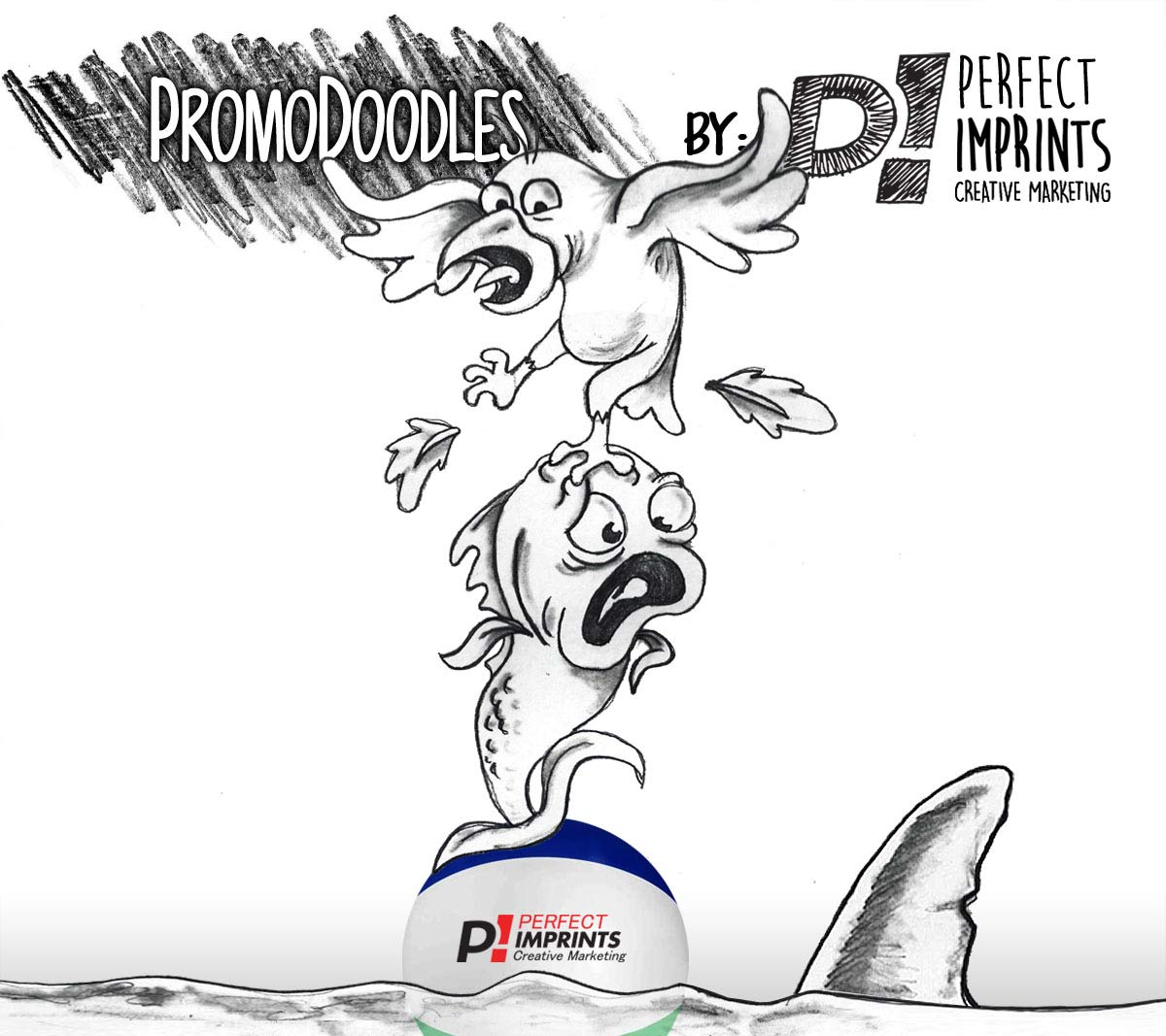 PromoDoodles by Perfect Imprints – Beach Ball Shark Attack