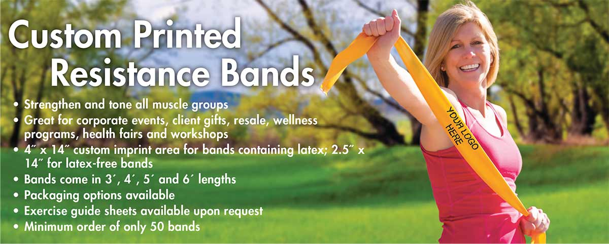 Custom Exercise Bands - Resistance Bands with Logo