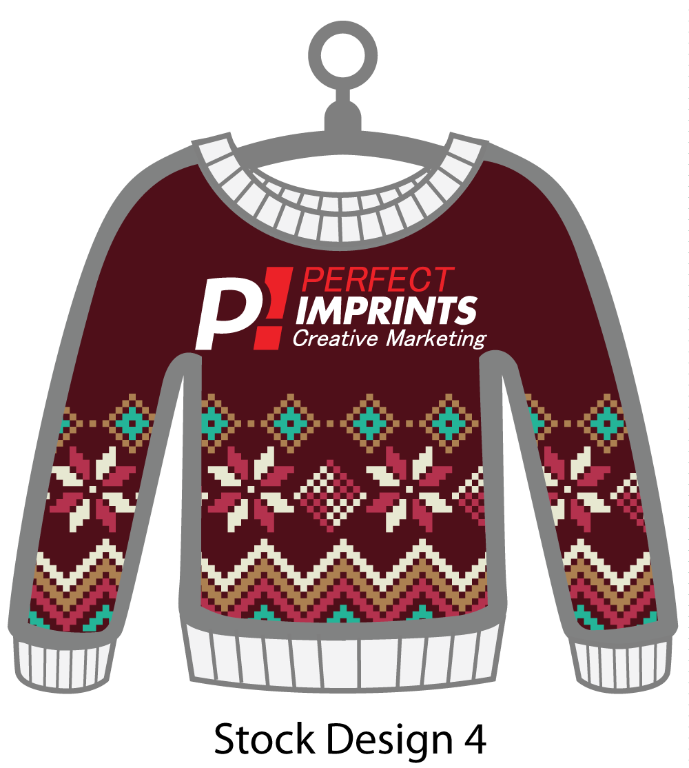 Ugly Sweater Christmas Ornament Stock Design 7