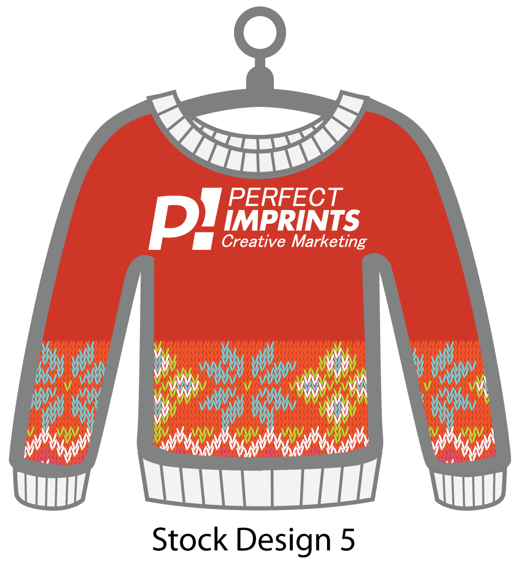 Ugly Sweater Christmas Ornament Stock Design 6