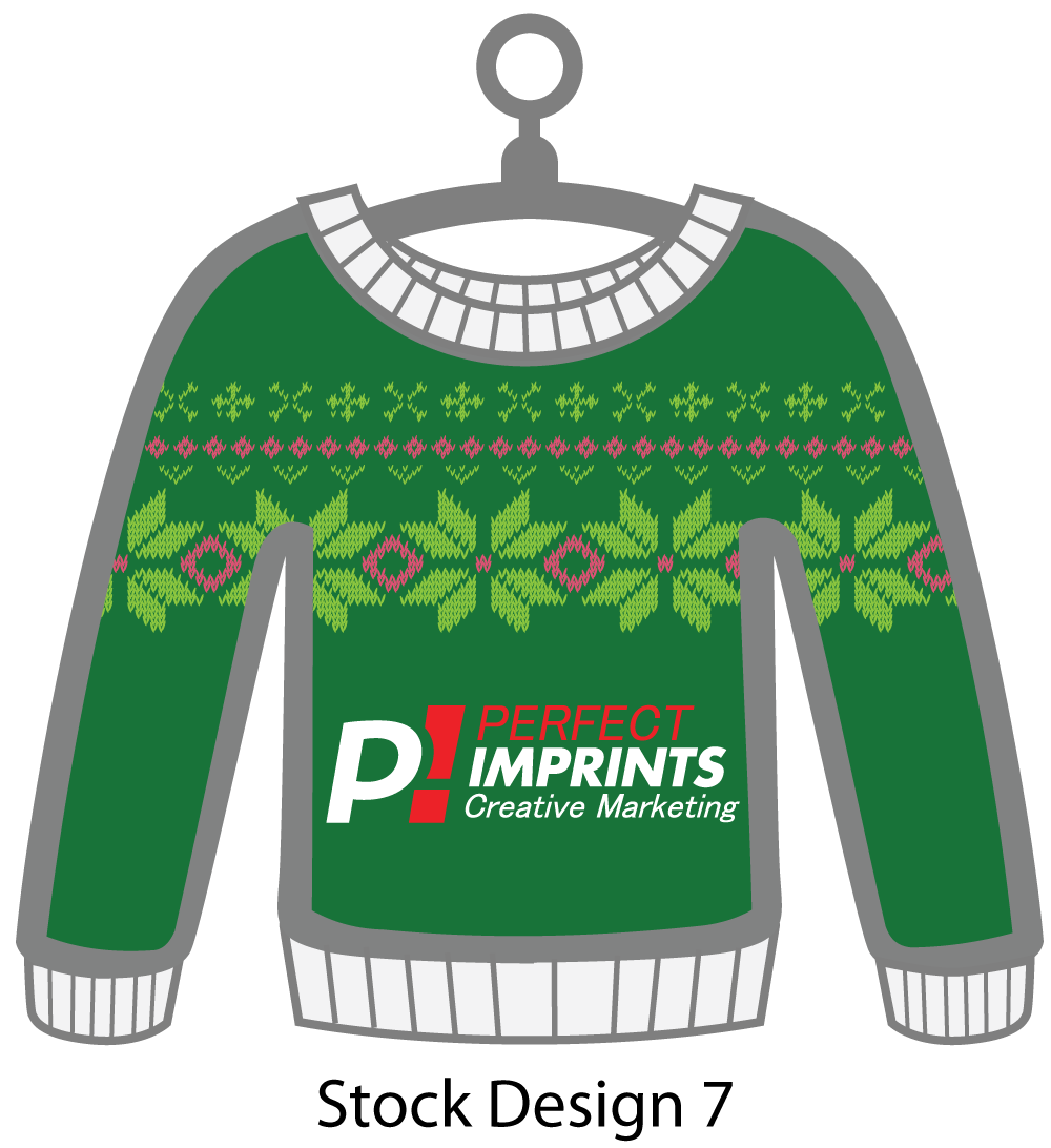 Ugly Sweater Christmas Ornament Stock Design 4
