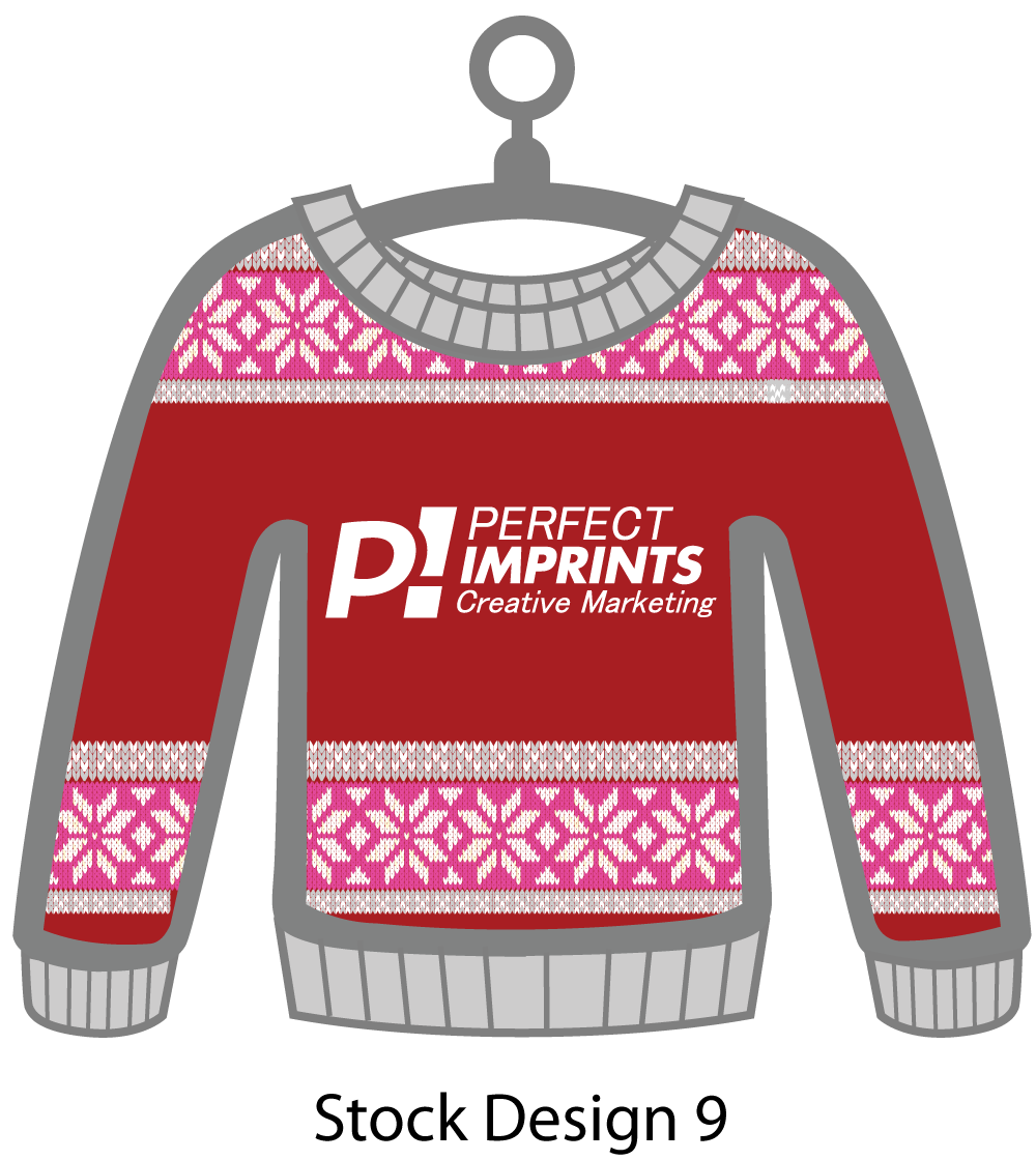 Ugly Sweater Christmas Ornament Stock Design 2