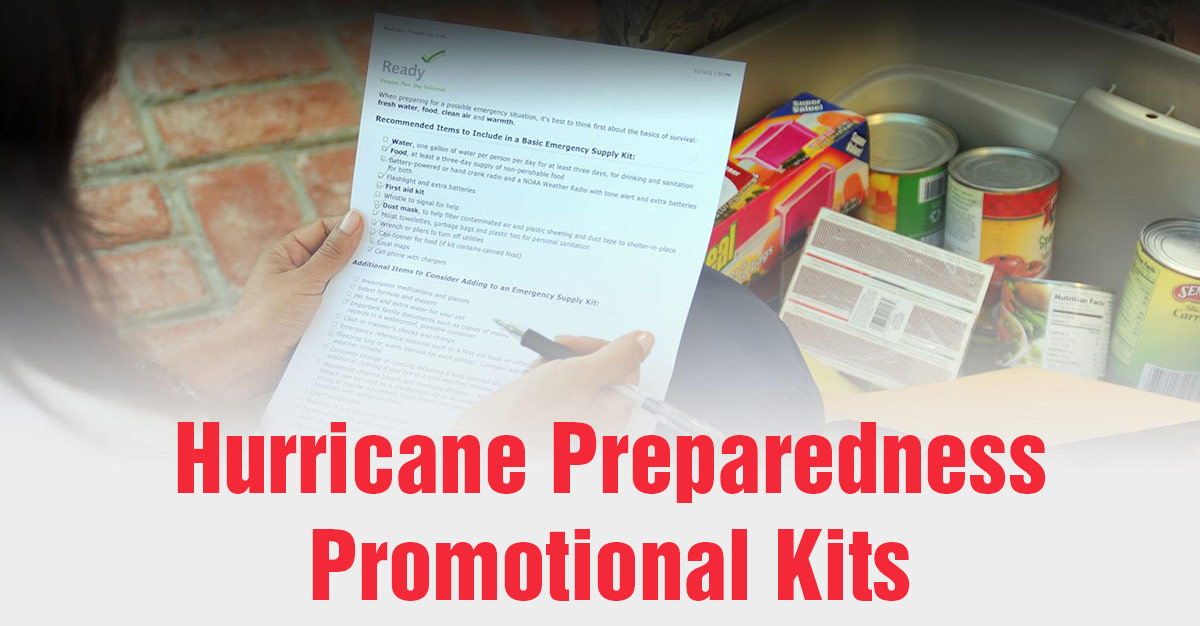 Promotional Products Kits for Hurricane Preparedness