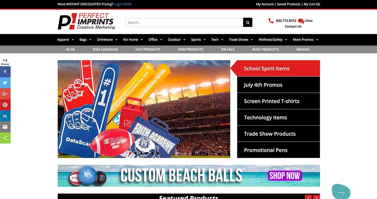 Launch of New Perfectimprints.com website - June 2018