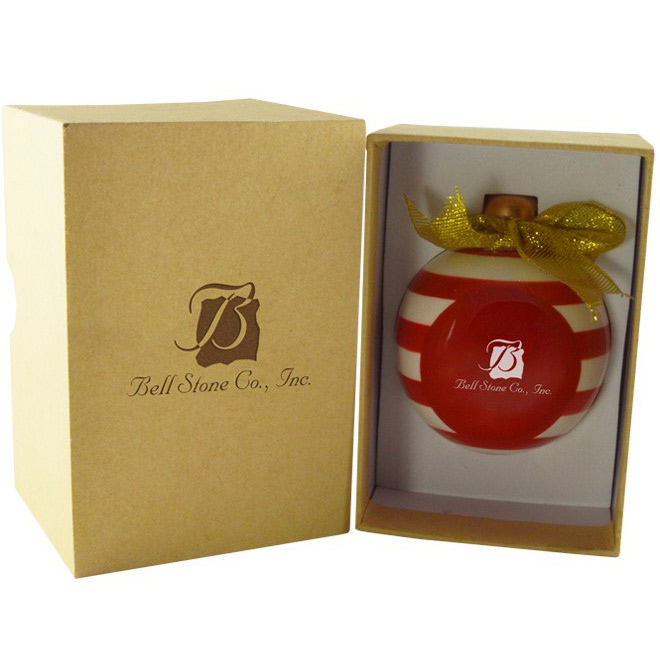 Candy Cane Ceramic 3D Ornaments with Gift Box