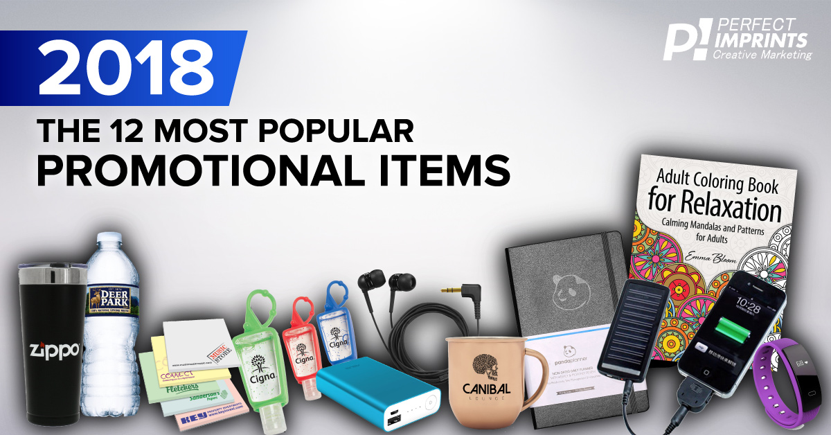 12 Most Popular Promotional Items of 2018