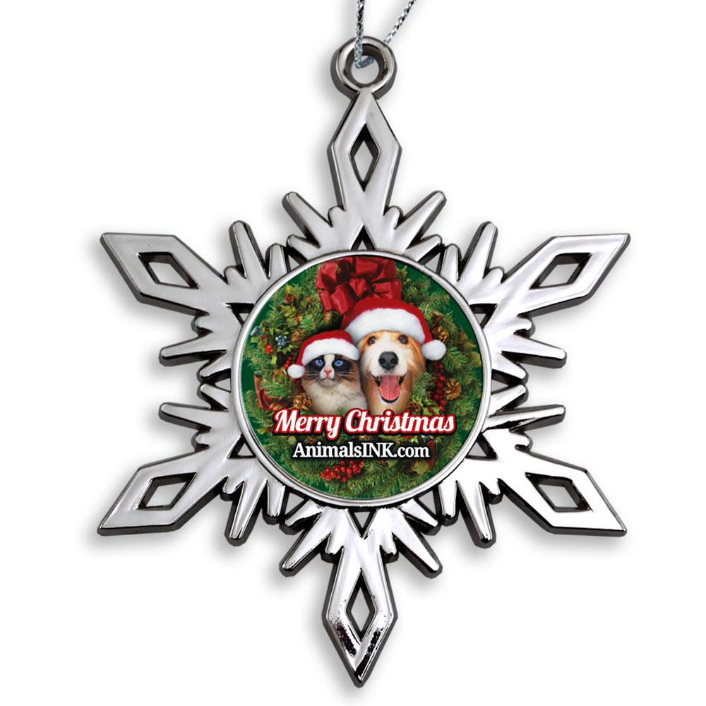 Bright Nickel Snowflake Ornaments