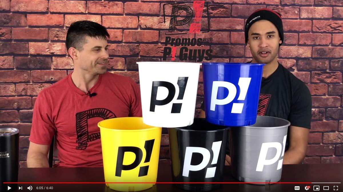 Promos with the P! Guys - Custom Plastic Buckets