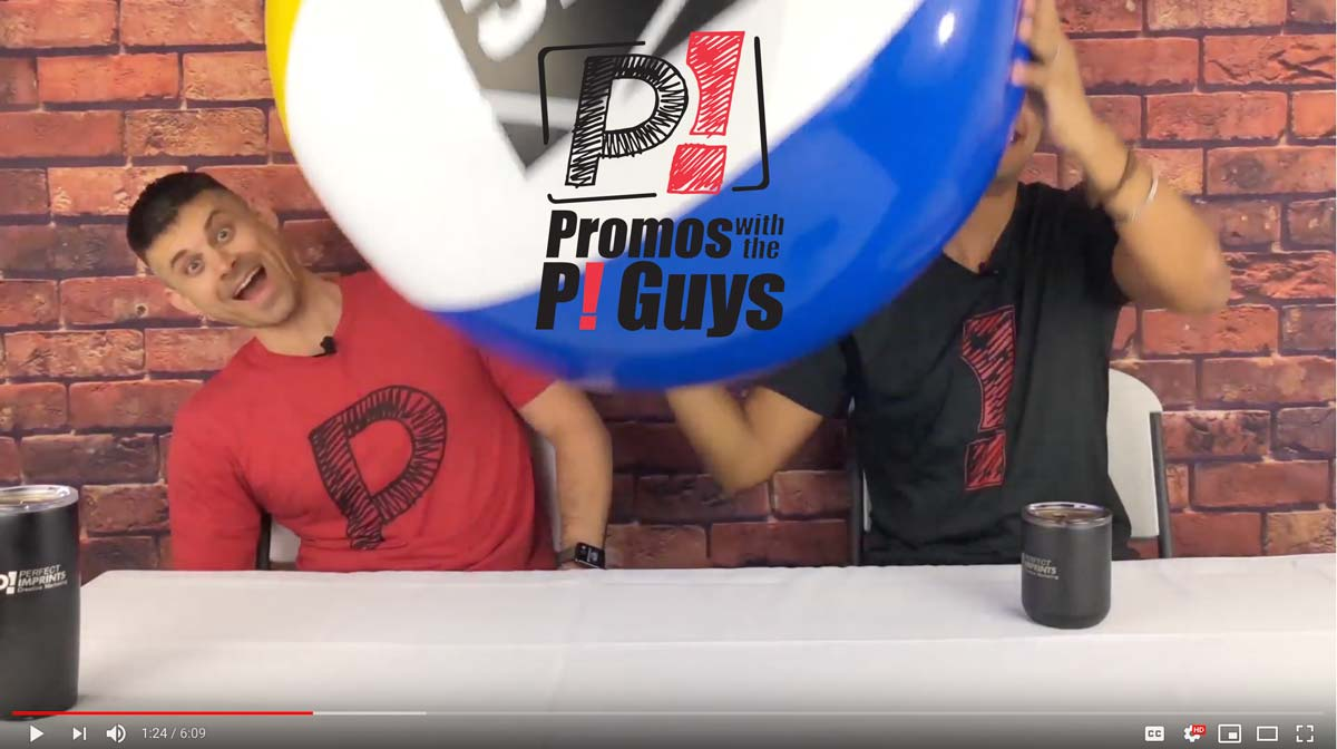 Promos with the P! Guys - Custom Beach Balls