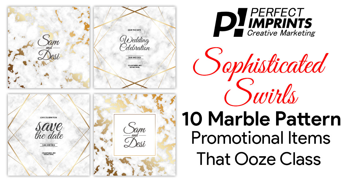 Sophisticated Swirls: 10 Marble Pattern Promotional Items
