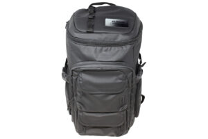 Mission Pack Black Backpack with Engraved Metal Plate